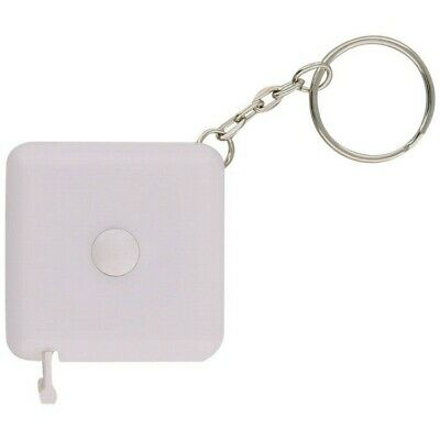 Retractable Square Tape Measure 150 Centimeter  60 Inch White +Keyring Diets UK • 2.30£