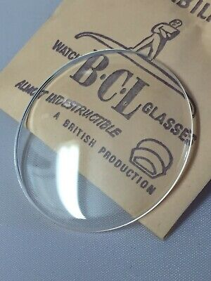 £7.75 • Buy BCL Acrylic Glass For Open Face Pocket Watches NOS Sizes 36.2mm-49.8mm Low Dome
