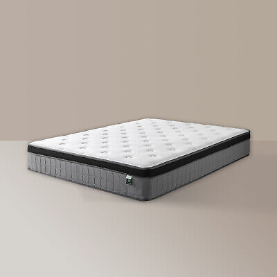 AU319 • Buy Zinus Queen Mattress Full Size Euro Top Bed Pocket Spring Foam Medium Plush