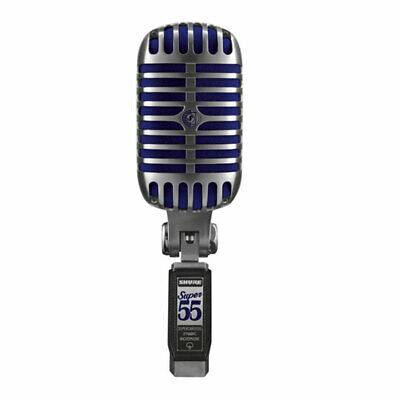 Shure SUPER 55 Deluxe Vocal Microphone, Supercardioid Pattern, Freq 60 - 17,000  • 224.88£