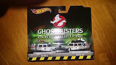 Hot Wheels Classic Ghostbusters Ecto-1 & Ecto 1A 2 Pack Diecast Vehicle • 15.27£