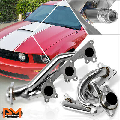 $89.89 • Buy For 05-10 Ford Mustang 4.0L V6 Stainless Steel Racing Exhaust Header Manifold