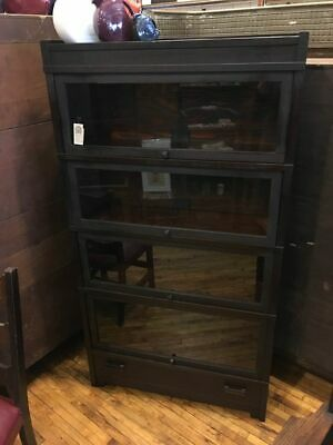 $1095 • Buy Mission Oak 4 High Stack Barrister Bookcase Arts & Crafts Globe Wernicke