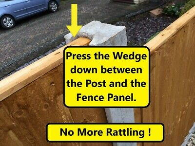 £6.95 • Buy 10 X ANTI-RATTLE FENCE PANEL SECURITY CLIPS WEDGES GRIPS STOPS RATTLING FENCES
