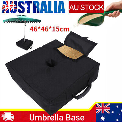 AU16.99 • Buy Weight Sand Bag For Umbrella Base Stand Detachable Bags Square Patio Outdoor
