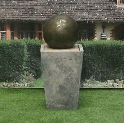 £352.57 • Buy Sphere Ball On Cantabury Tub Stone Water Fountain Feature Garden Ornament