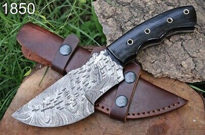$29.99 • Buy HAND FORGED DAMASCUS STEEL Hunting & Chef Knife Full Tang
