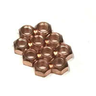 10x M8 Copper Flashed Exhaust Manifold 8mm Nut - High Temperature Nuts • 3.50£