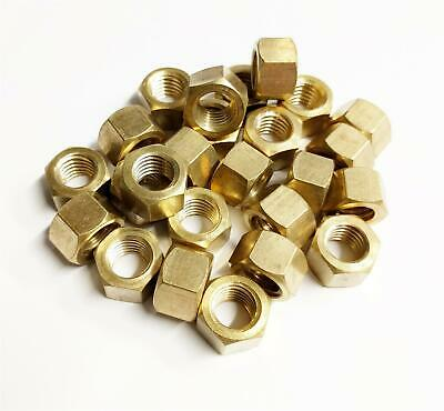 25x Brass Imperial Exhaust Manifold Nut 1/4  UNF High Temperature Nuts • 4.90£