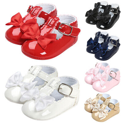 Newborn Baby Girls Crib Pram Shoes Kids Prewalker Soft Sole Slippers Trainers UK