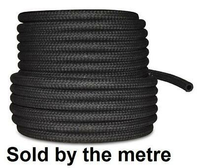 8mm 5/16  CAR FUEL BRAIDED HOSE REPLACEMENT BLACK 1 METRE PIPE • 4.94£