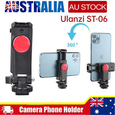 AU13.36 • Buy Ulanzi ST-06 Phone Holder Tripod Mount Camera Hot Shoe Smartphone Clip For DSLR