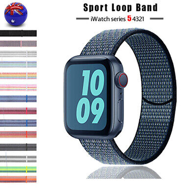 AU9.93 • Buy For Apple Watch Band Series 5 4 3 2 1  Nylon Sport Loop IWatch Strap AU STOCK