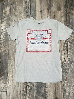 $ CDN17.61 • Buy New Budweiser Shirt Adult Large Size L Gray Bud King Of Beers  Vintage Look