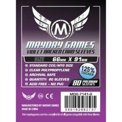 $3.95 • Buy Mayday Boardgame Sleeves Standard CCG Size Card Sleeves - Purple (80) MINT
