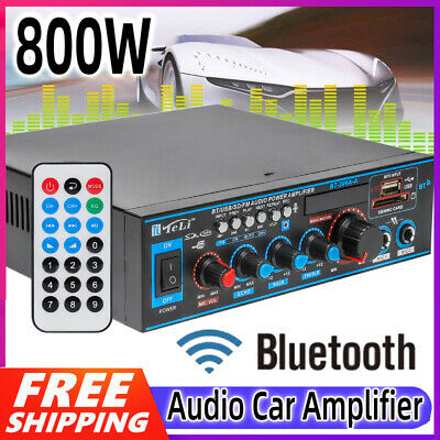800W HiFi Bluetooth Digital Power Amplifier Mini Stereo Audio Amp Car Home DC12V • 21.79£