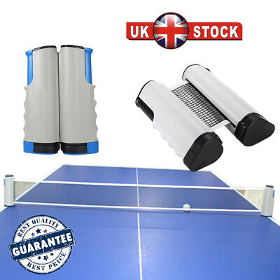 Portable Retractable Table Tennis Net Kit Ping Pong Indoor Games Replacement Set • 7.99£