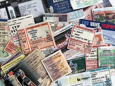 FAC/LC/Charity Shield/Play-Off/LDV/FL Trophy/FA Vase Final Tickets *Pick List* • 5£