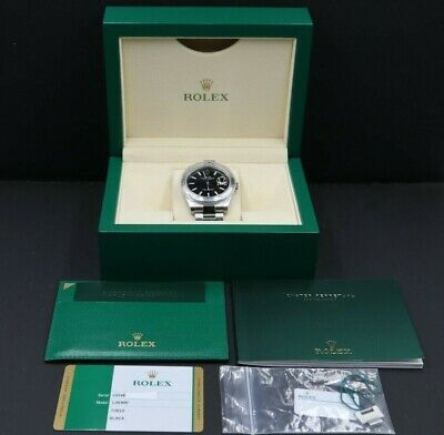 $ CDN9283.19 • Buy Rolex DateJust II 126300 Black Dial SS Auto 41mm Oyster Bracelet Watch Full Set