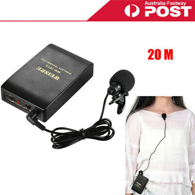 AU19.99 • Buy Wireless Microphone Lavalier Lapel Mic Receiver Transmitter For Lecturer J5K9