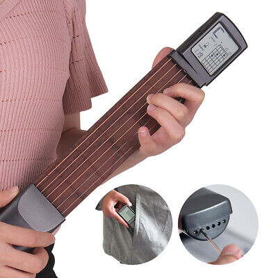 AU43.99 • Buy 6-String Fret Digital Guitar Chord Trainer Pocket Guitar Rotatable Screen N4R0