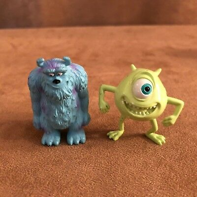 Disney Monsters Inc. Mike Sully Action Figures Pvc Cake Toppers Lot Set  • 10.50£