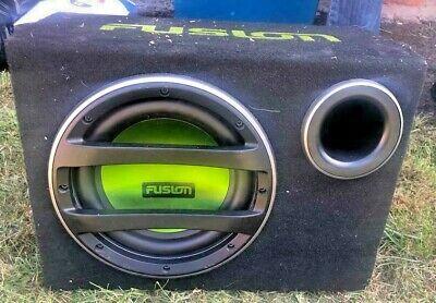Fusion Powered Subwoofer In Vented Sub Box • 50£