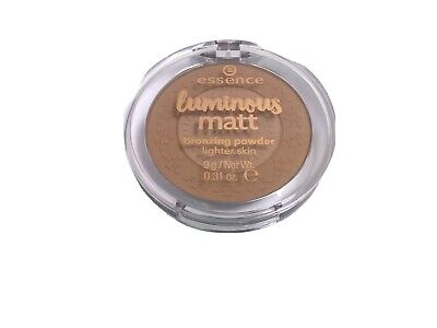 Essence Luminous Matt Bronzing Powder Compact For Lighter Skin #01 Sunshine. W19 • 5.72£