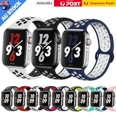 AU8.89 • Buy For Apple Watch Band Series SE 6 5 4 3 Silicone Sport IWatch Strap 38/40/42/44mm