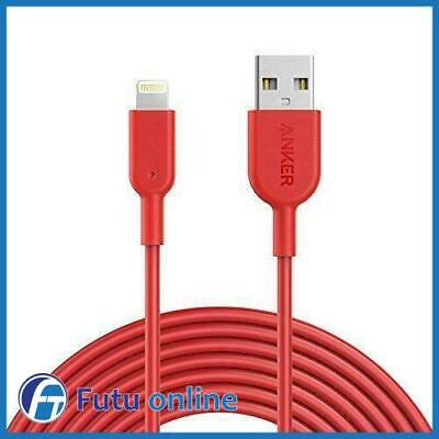 AU33 • Buy Anker PowerLine II USB To Lightning Charging Cable For IPhones IPads RED 1.8m