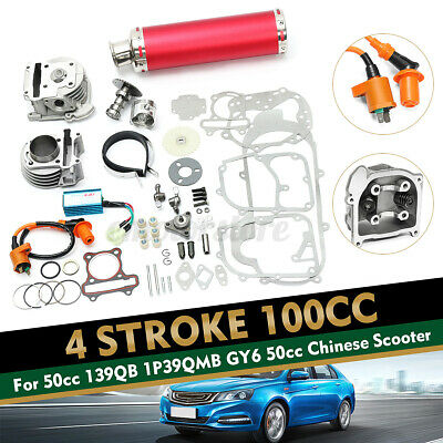 $92.99 • Buy 100cc Big Bore Set Power Pack Exhaust For Gy6 50cc QMB139 Chinese Scooter Parts