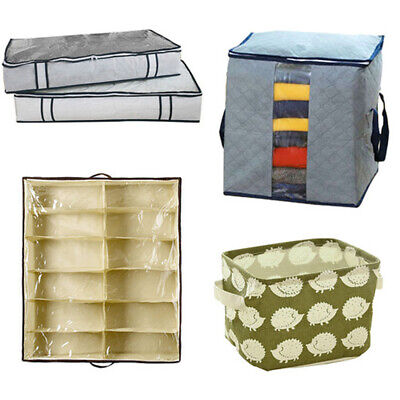 Multifunction Box/Basket Storage Bag For Clothes Quilt Shoes Pillows Organiser • 5.75£