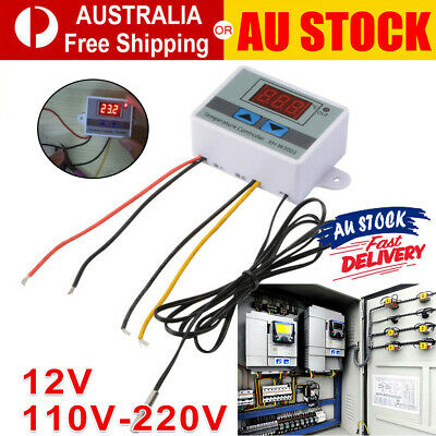 AU15.17 • Buy Digital Temperature Thermostat XH-W3001 Controller 12V-220V Heating Cooling LCD
