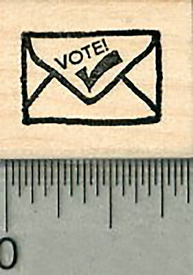 $9.99 • Buy Vote By Mail Rubber Stamp, Small Ballot Envelope A36410 WM