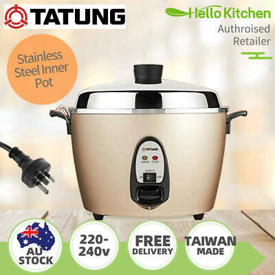 AU259 • Buy Tatung Multi-Functional Stainless Steel Inner Pot Rice Cooker In Champagne