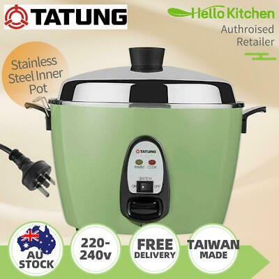 AU269 • Buy Tatung Multi-Functional Stainless Steel Pot Rice Cooker 240v 6/10Cups Green 大同電鍋
