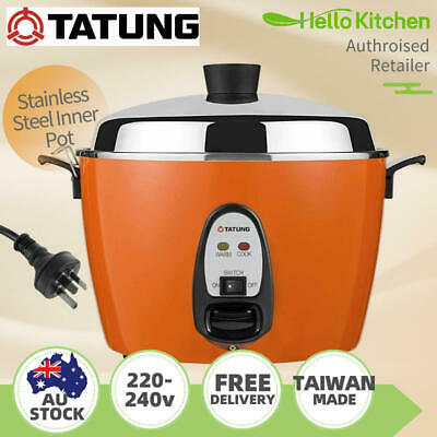 AU269 • Buy Tatung Multi-Functional Stainless Steel Pot Rice Cooker 240v 6/10Cups - Red 大同電鍋