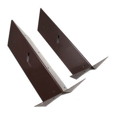 ARRIS RAIL BRACKETS - EPOXY BROWN - 300mm - FENCE FENCING POST SUPPORT BRACKET • 6.99£