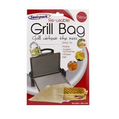SealaPack Reusable Grill Bag Paninis Toasted Sandwiches Chicken,Fish No Mess • 2.99£