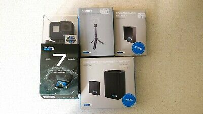 AU390 • Buy *USED ONCE* GoPro Hero 7 Black + Dual Battery Charger + 2 Batteries + Tripod
