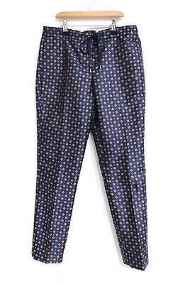 AU38.95 • Buy J Crew Sz 0 29 High Rise Blue Satin Pants Tapered Womens Trousers Floral Fit 6 8