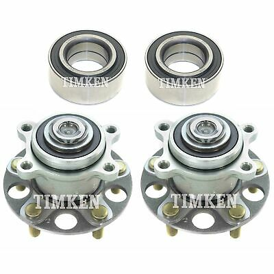 $306.29 • Buy Front And Rear Wheel Bearings & Hubs Kit Timken For Acura TSX Honda Accord FWD