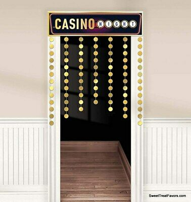 $14.95 • Buy CASINO Decorative Door Curtain Party Decoration Banner Stumps Roll Gold Supplies