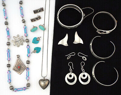 $ CDN108.85 • Buy 1970s - Lot Of VINTAGE & MODERNIST STERLING SILVER JEWELRY - 146 Gr.