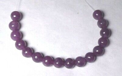 $0.99 • Buy 16 Beautiful 6mm Natural LEPIDOLITE Round Gemstone Beads
