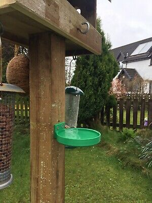 Birdbath / Feeder - Fence Or Post Mounted For Bird Table Bath Drink Water Bowl • 10£