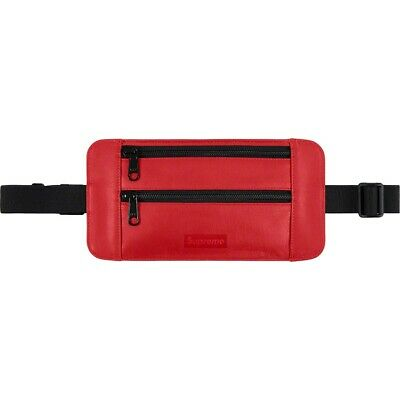 $ CDN274.89 • Buy Supreme SS19 Leather Waist Shoulder Pouch Bag RED