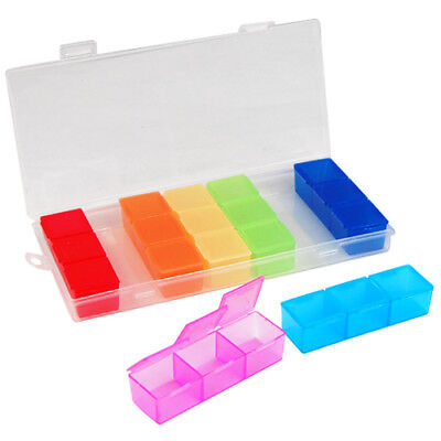 Weekly Pill Box Daily Organiser Medicine Tablet Storage Dispenser 7 Day Small • 2.99£