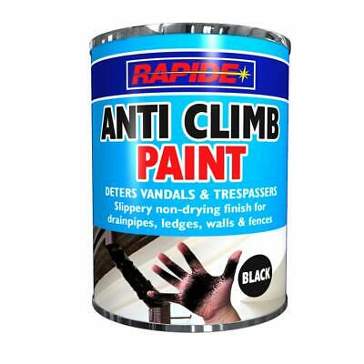 1 X 500ml Tin Anti Climb Paint - Non- Drying Deters Vandals & Trespassers BLACK  • 12.99£