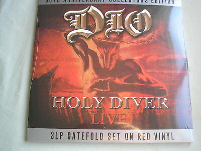 £22.99 • Buy DIO Holy Diver - Live 3 X LP G/fold Sleeve Red Vinyl 2013 NEW SEALED